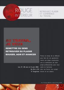 """Atelier de développement personnel """"Retrouvez le plaisir au travail"""""""